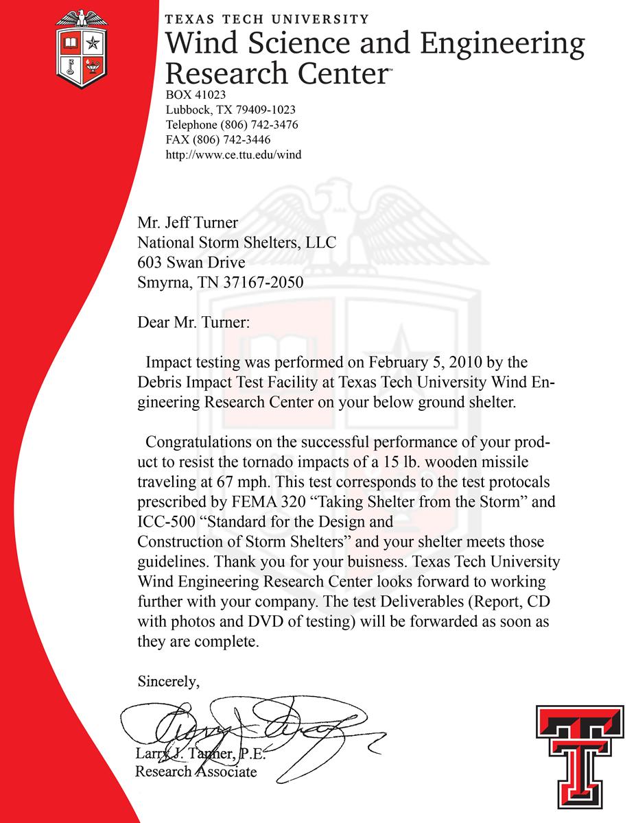 FEMA-320-testing-egulations